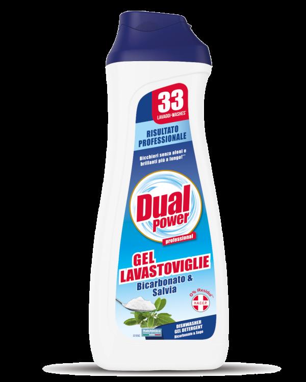 Дуал Гел за съдомиялна машина с аромат Мента 33 дози 660мл.